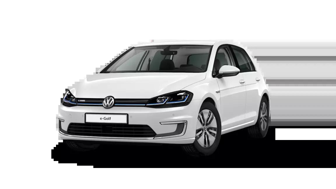 Volkswagen e-Golf électrique blanche